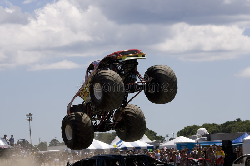 Monster Truck at Car Show stock photos
