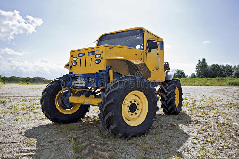 Monster truck before competition royalty free stock photos
