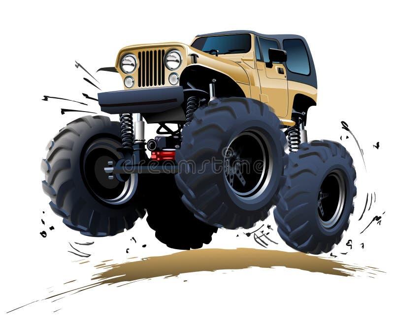 Monster truck de la historieta stock de ilustración