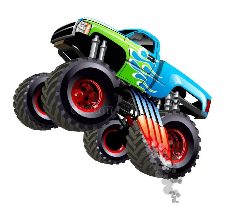 Monster truck de la historieta libre illustration