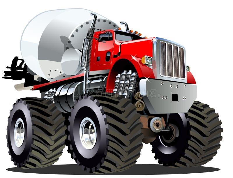 Monster truck del mezclador de la historieta stock de ilustración