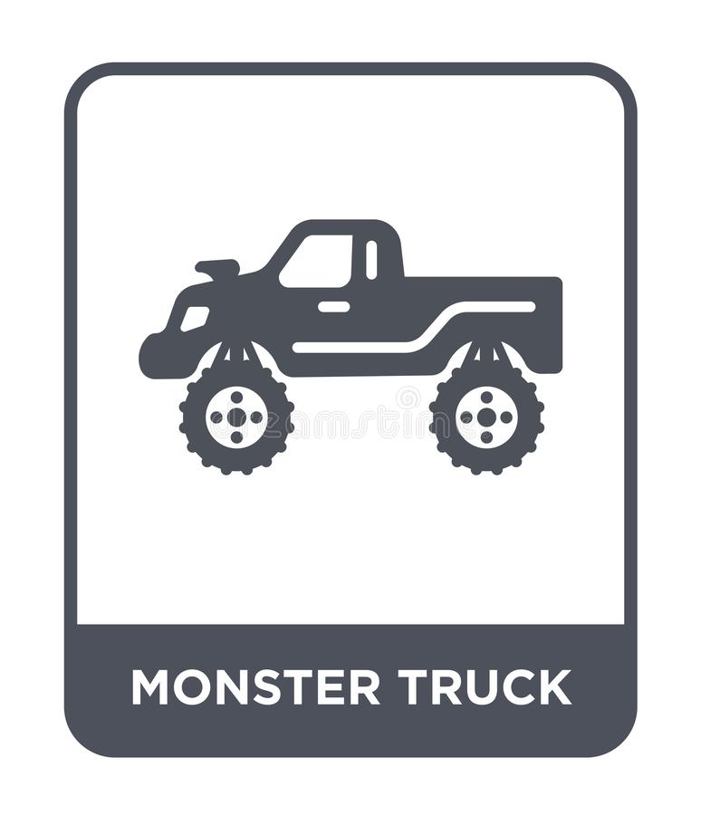 monster truck icon in trendy design style. monster truck icon isolated on white background. monster truck vector icon simple and vector illustration