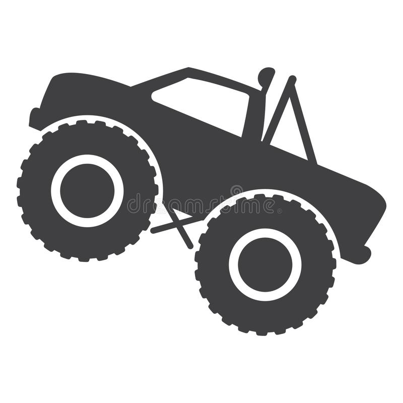 Monster Truck Icon Vector Isolated Stock Illustration Illustration Of Monster Bigfoot 148039174