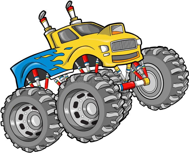 Monster Truck Illustration. Giant Monster Truck Vector Illustration stock illustration