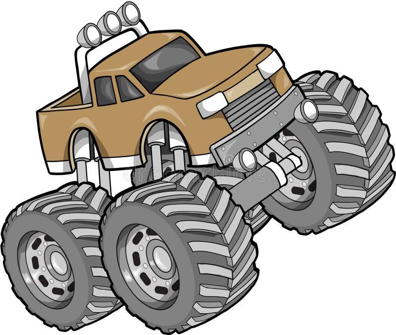 monster truck illustration stock vector illustration of