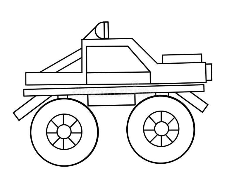 Monster Truck Kids Educational Coloring Pages Stock Illustration Illustration Of Elements Kids 98453177