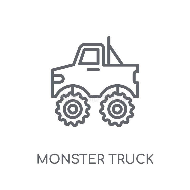 Monster truck linear icon. Modern outline Monster truck logo con stock illustration
