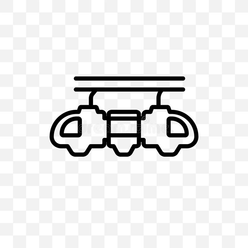Monster truck vector linear icon isolated on transparent background, Monster truck transparency concept can be used for web and mo royalty free illustration