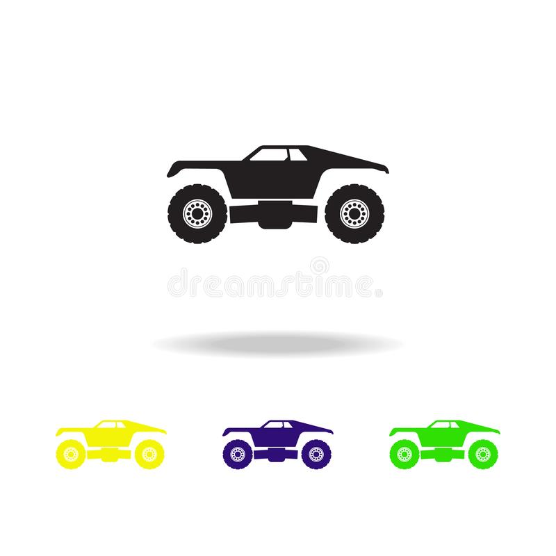 Monster trucks multicolored icons. Monster trucks element icon. Baby Signs, outline symbols collection icon for websites, web desi. Gn, mobile app on white vector illustration
