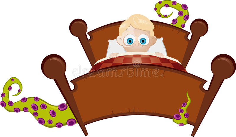 Download Monster under the bed stock vector. Image of humour, comic - 19753134