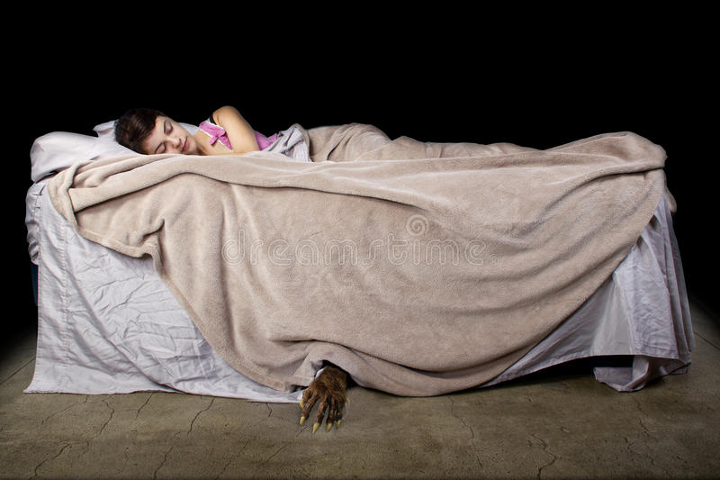 Monster Under The Bed stock photos
