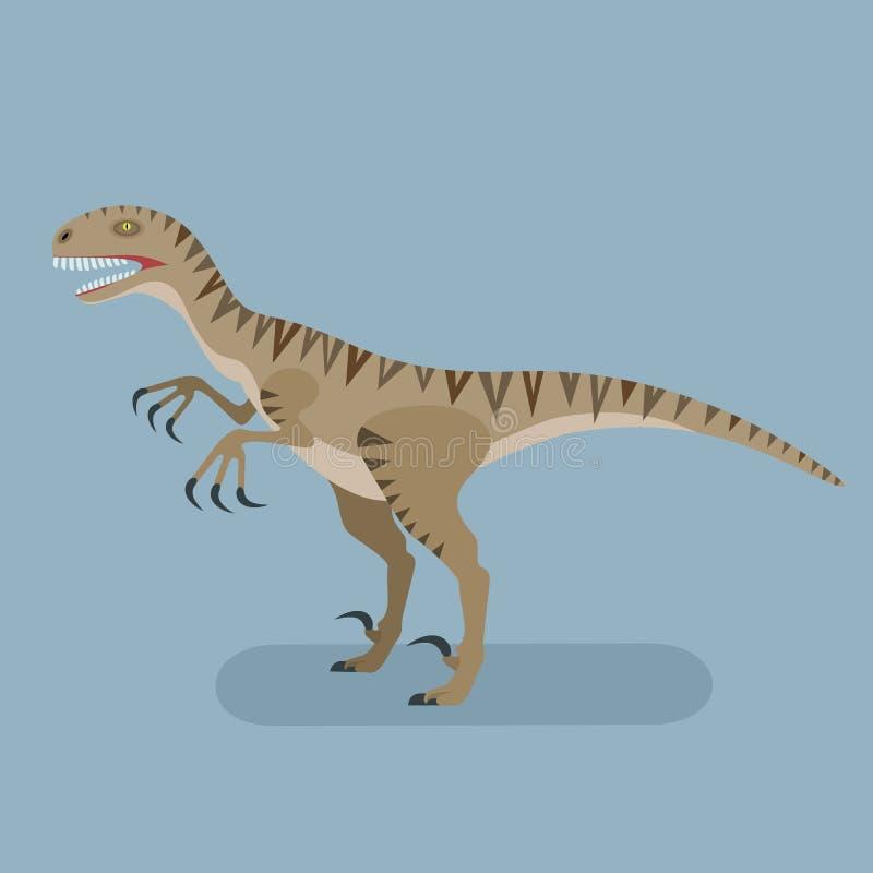 Monster Utahraptor royalty-vrije illustratie
