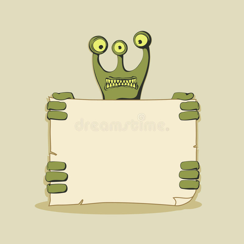 Monster vector banner stock illustration