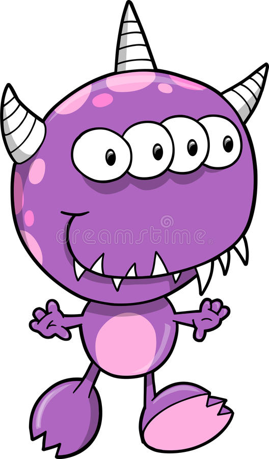 Monster Vector Illustration Royalty Free Stock Photo
