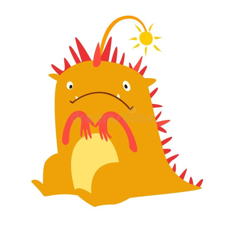 Monster vector. Kids cartoon toy, colorful cute character. Monster vector. Kids cartoon toy, colorful cute dinosaur character. Vivid fabulous incredible stock illustration