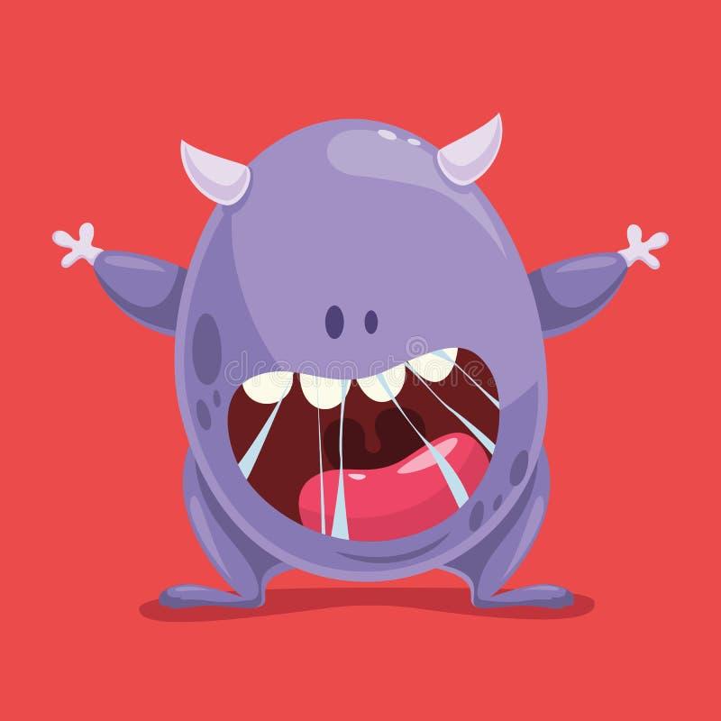 Monster vectorillustratie stock illustratie
