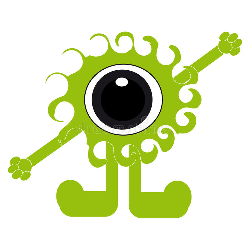 Monster on white background. Vector illustration vector illustration