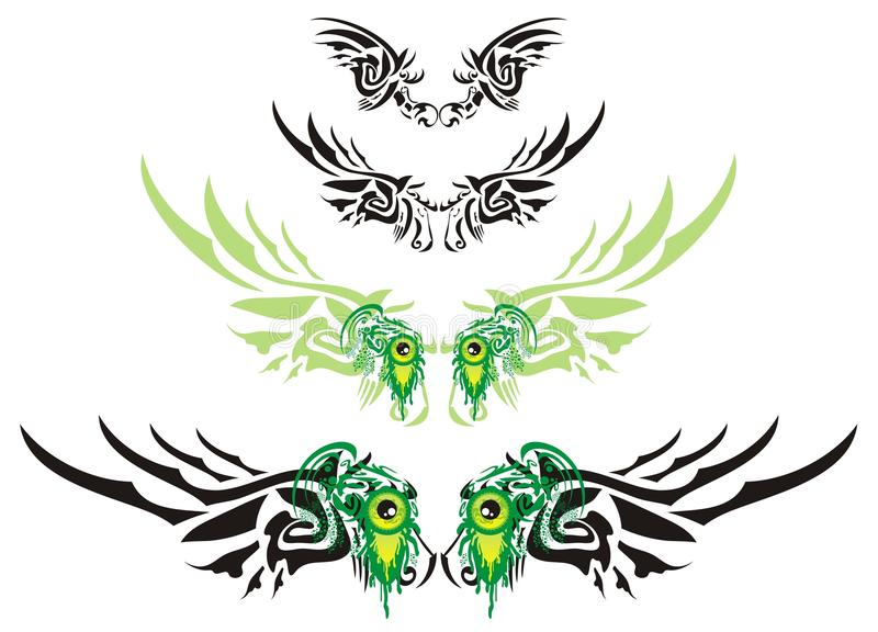 Download Monster wings stock vector. Image of abstract, monster - 32290102