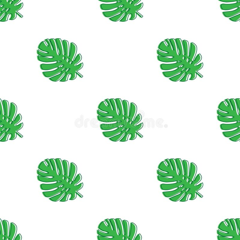 Monstera se va verde Modelo inconsútil del tema tropical, selva, frescura, exótica Modelo de moda para la decoración o para el fo ilustración del vector