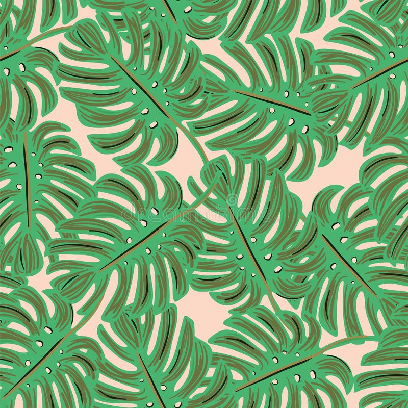 Monstera tropical seamless pattern royalty free stock photography
