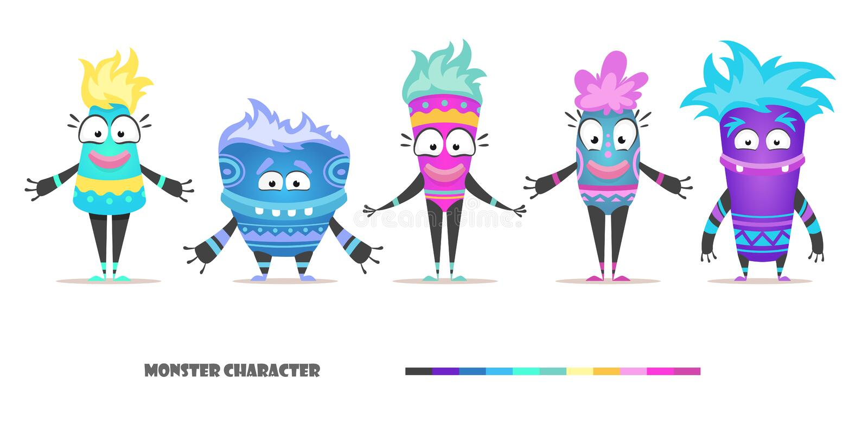 Monsterkarakter - reeks stock illustratie