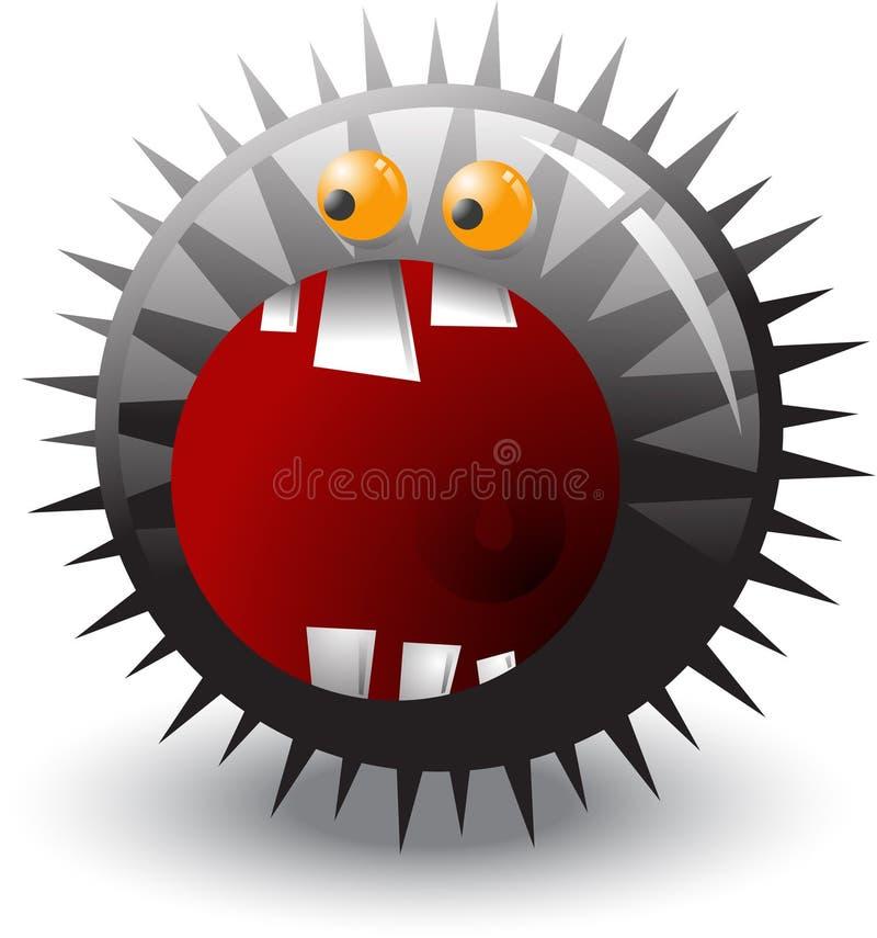 Monsterkugel. vektor abbildung