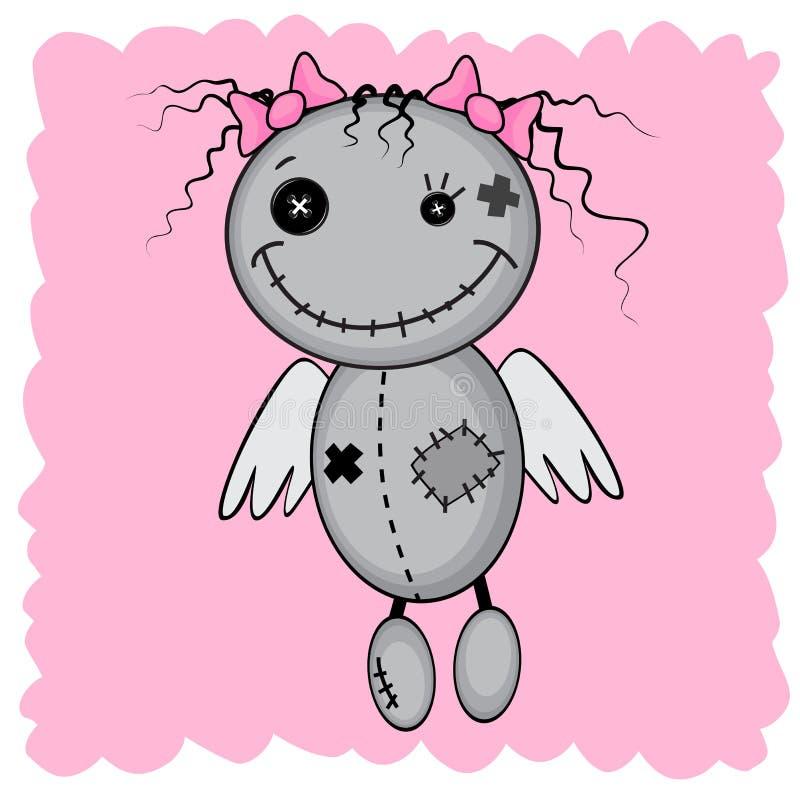 Monstermädchen mit Flügeln stock abbildung