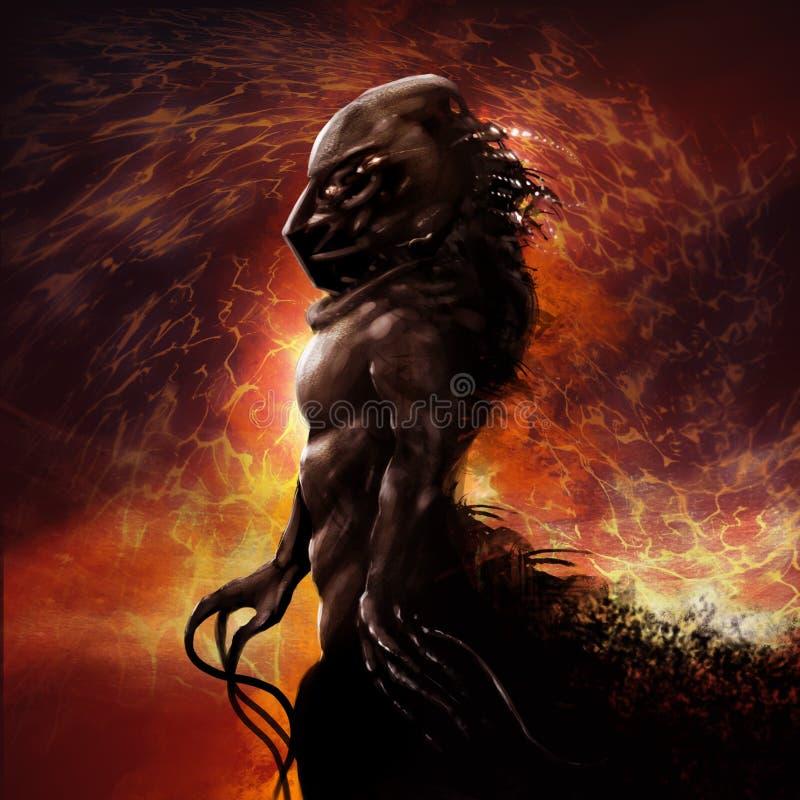 Monsterprofiel royalty-vrije illustratie
