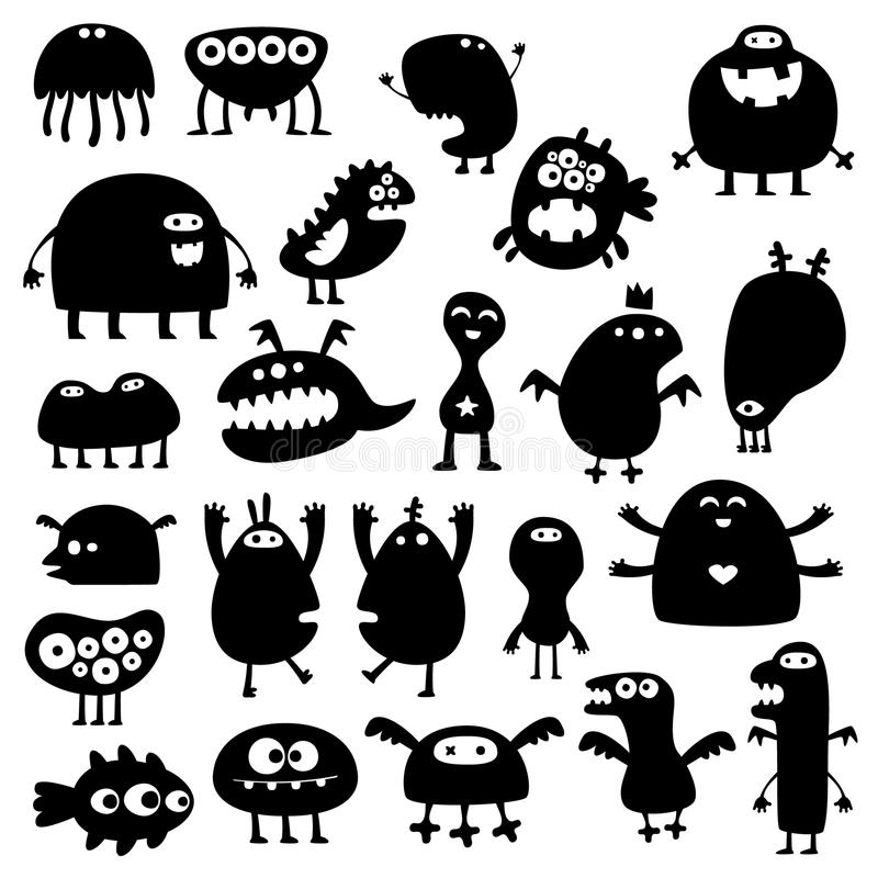 Monsters stock illustratie