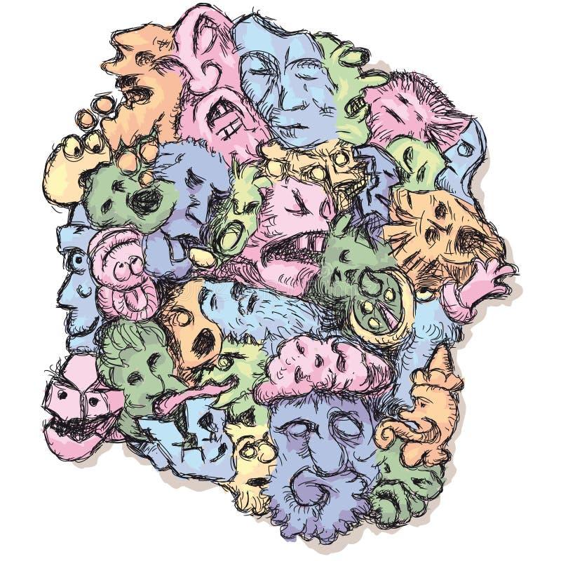 Download Monsters stock vector. Image of illustration, devil, spooky - 22980208