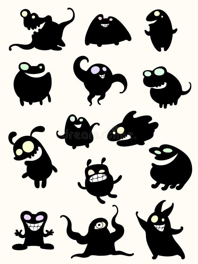Monsters stock illustratie