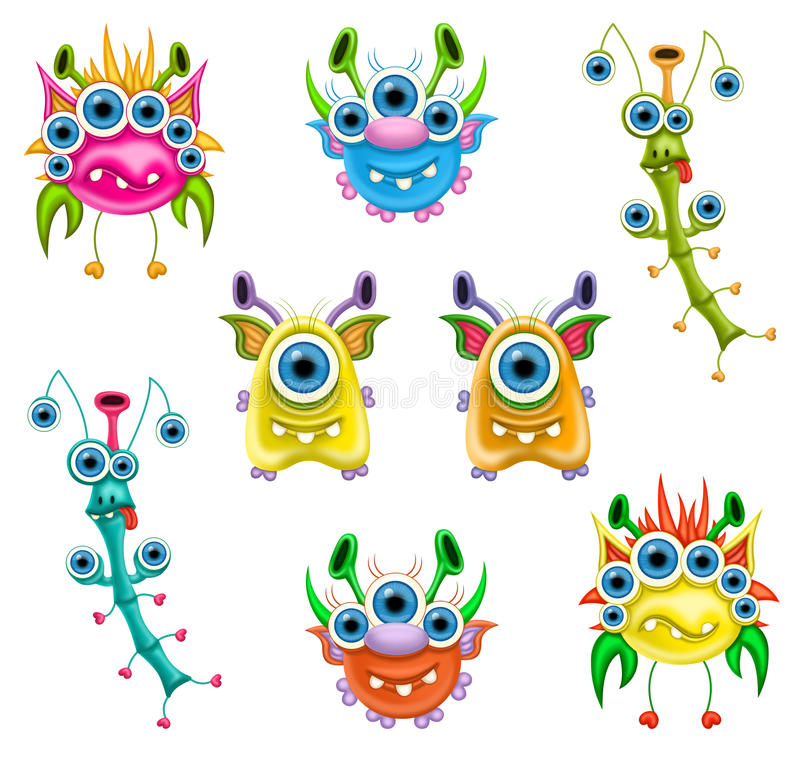 Download Monsters stock illustration. Illustration of colorful - 24620207