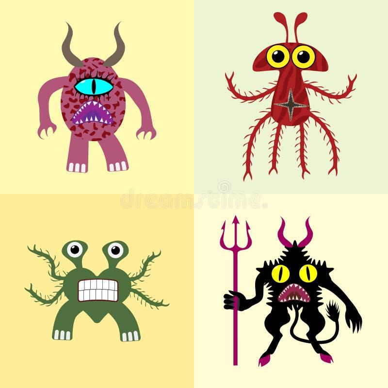 monsters ilustração royalty free