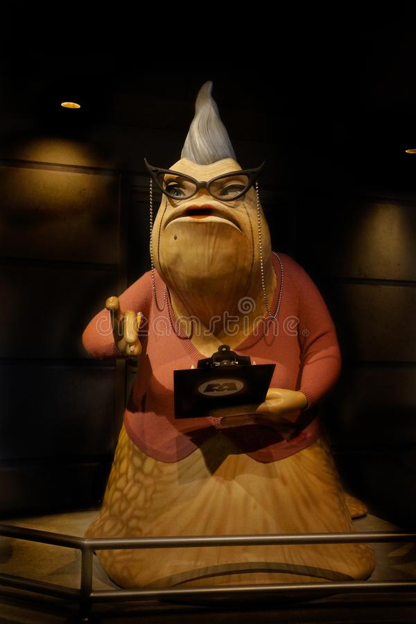 Monsters Inc Roz Pixar ταινία Scully στοκ εικόνα με δικαίωμα ελεύθερης χρήσης