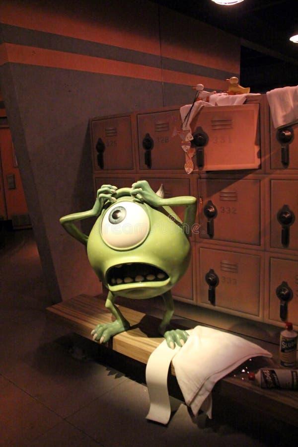 Monsters, N.v.-Rit bij het Avonturenpark van Disney Californië royalty-vrije stock afbeeldingen
