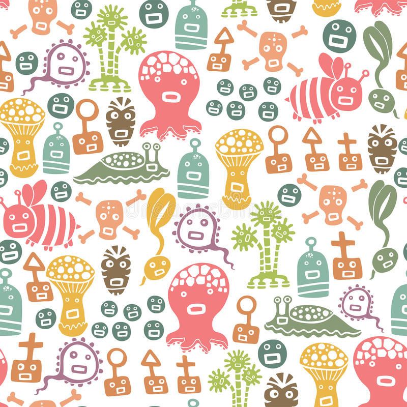 Free Monsters Pattern Royalty Free Stock Images - 25787739