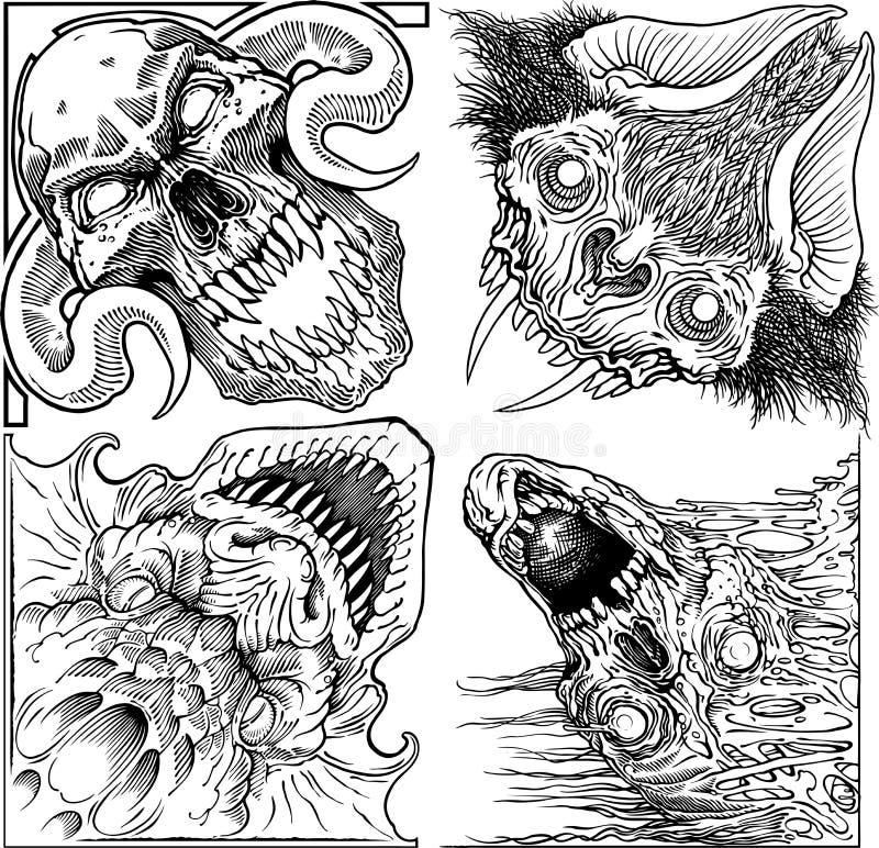 monsters royalty-vrije stock afbeelding