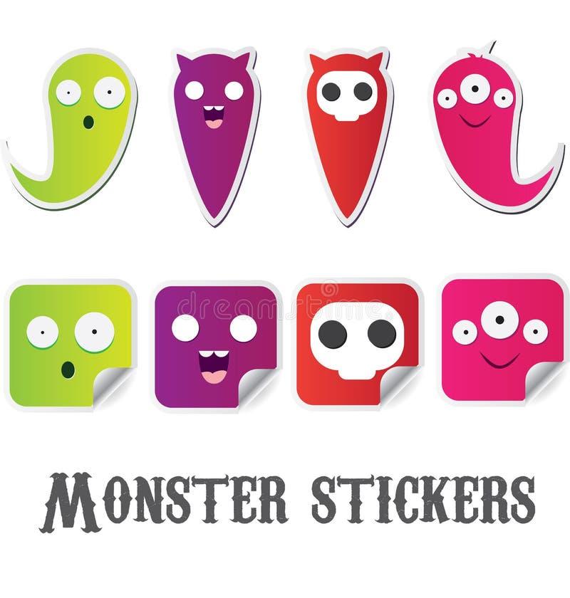 Monsterstickers stock illustratie