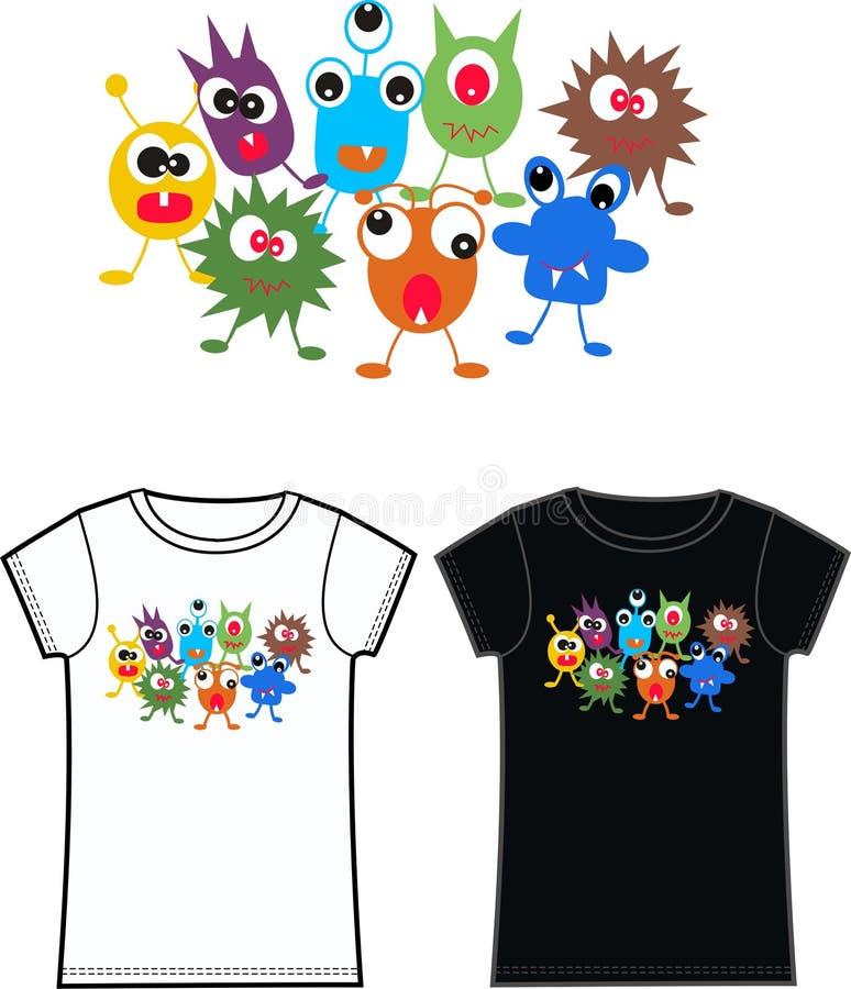 Monstert-shirt lizenzfreie abbildung