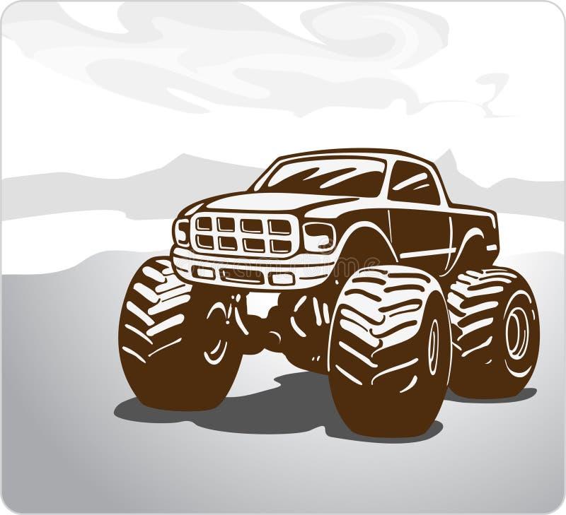 Monstertruck de Bigfoot del coche. stock de ilustración