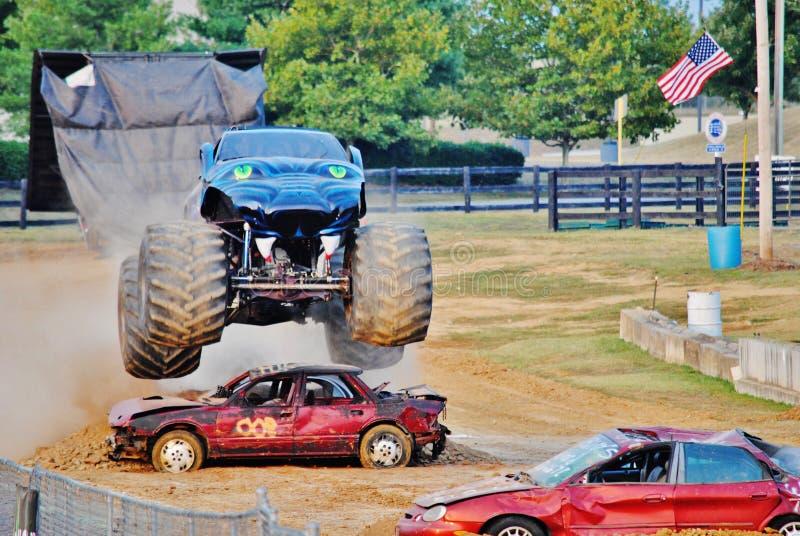 Monstervrachtwagen stock foto