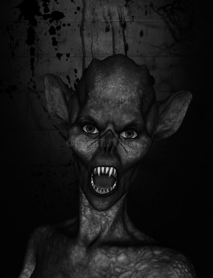 monstre illustration stock