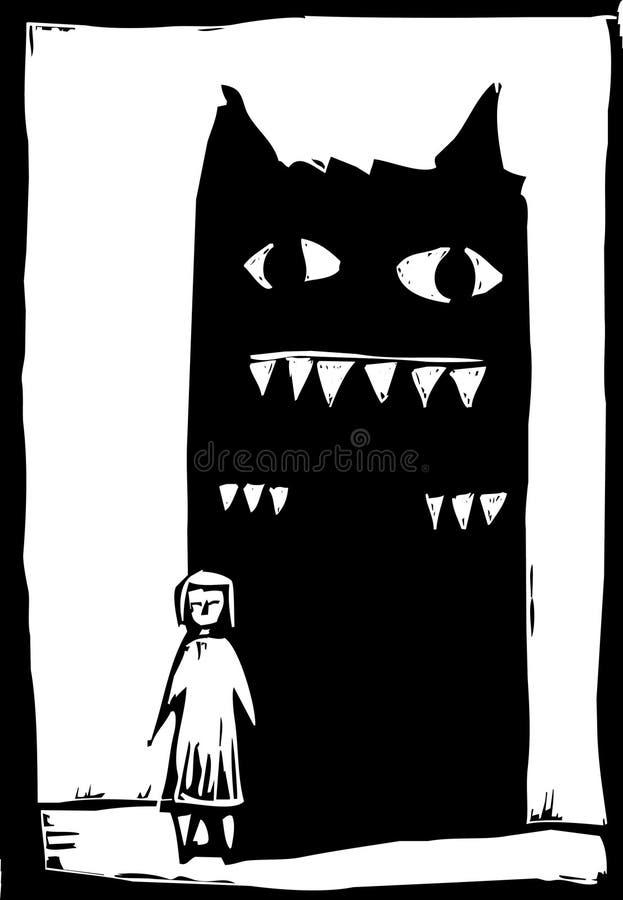 Monstre d'ombre illustration de vecteur