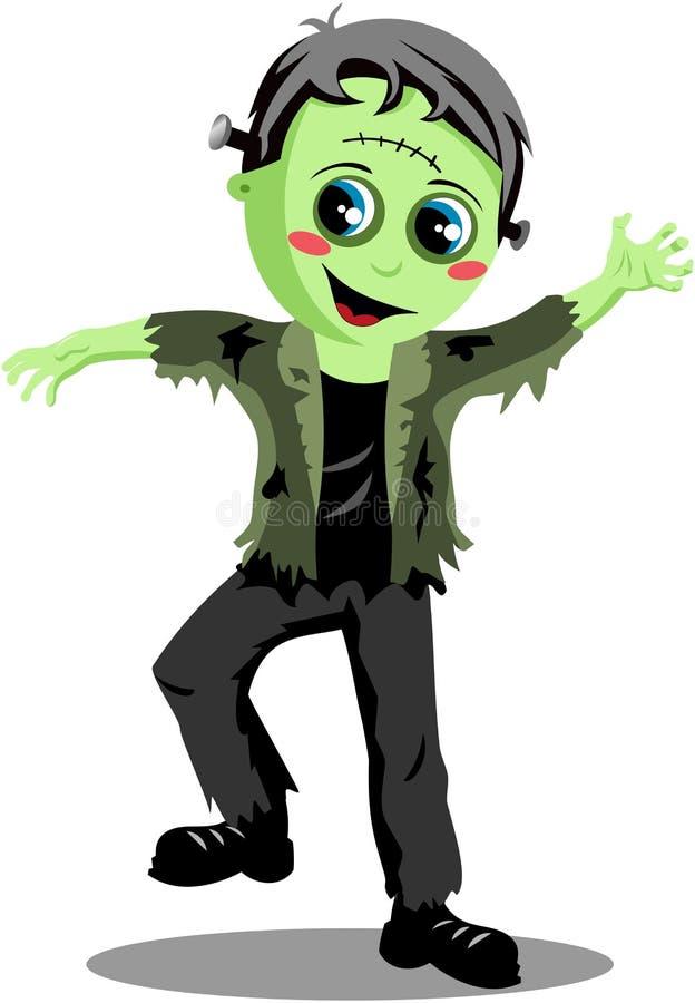 Monstre de Halloween Frankenstein illustration de vecteur