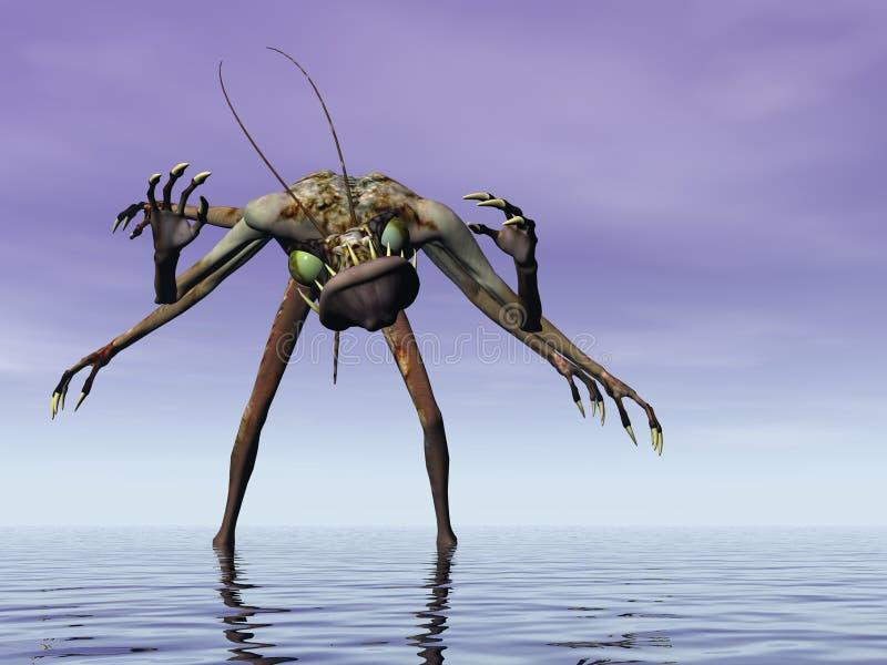 Monstre de la mer illustration stock