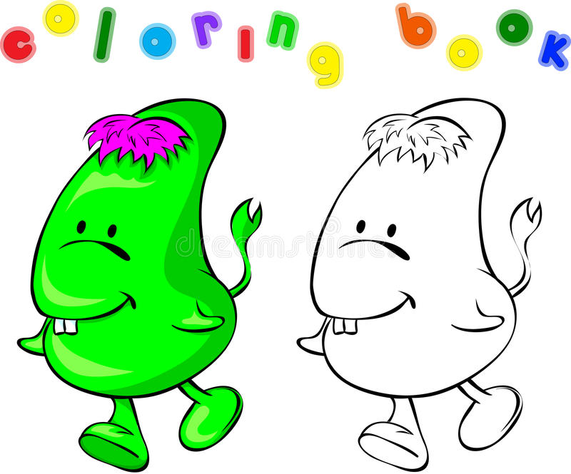 Monstre de livre de coloriage illustration de vecteur