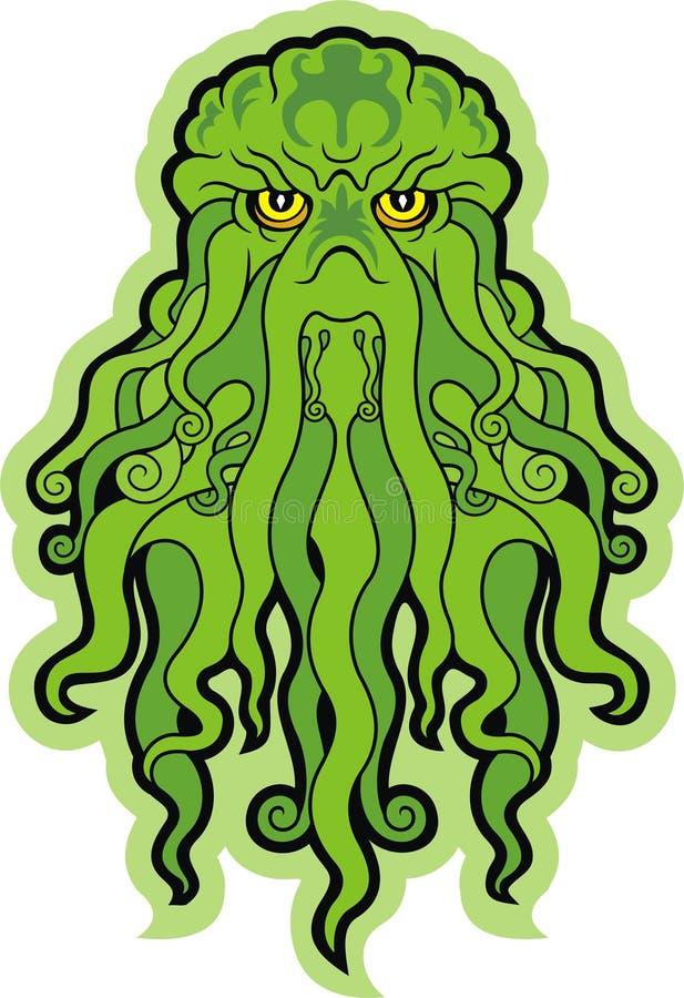 Monstre de mer Cthulhu illustration libre de droits