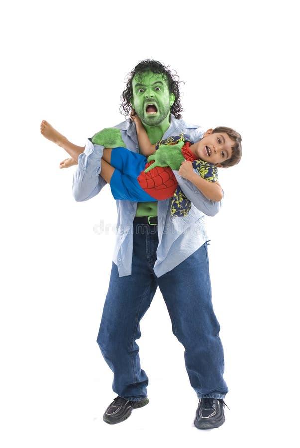 Monstre et garçon photographie stock libre de droits
