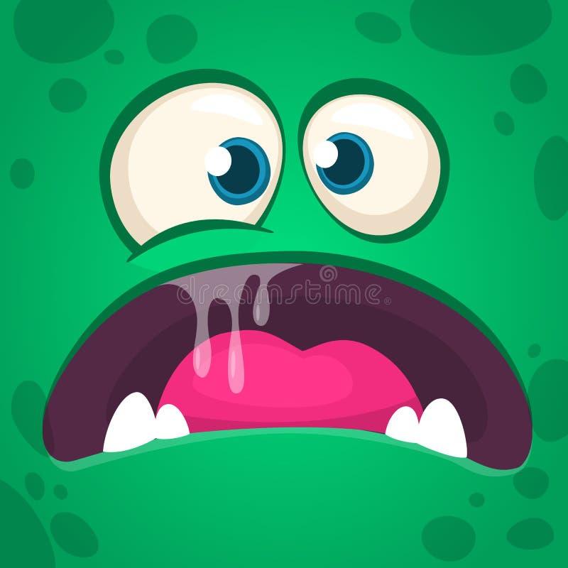 Monstre fâché frais de bande dessinée Avatar de monstre de Halloween de vecteur pour la copie Illustration illustration libre de droits