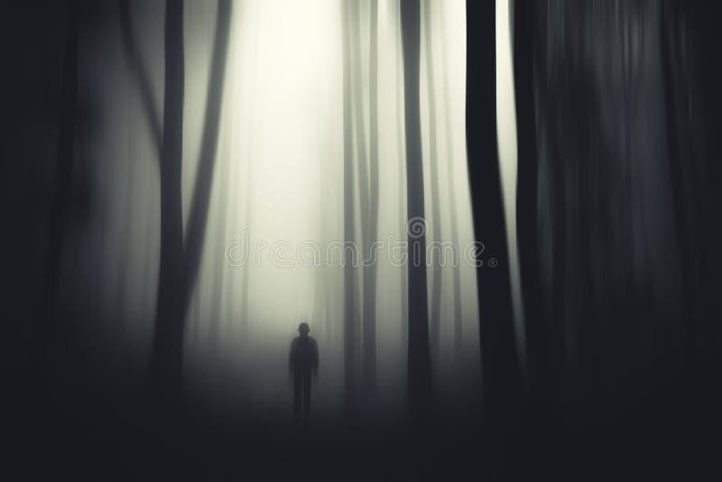Monstre fantasmagorique en bois surréalistes hantés photo libre de droits